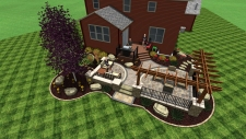 3D Landscape Design Patio & Deck