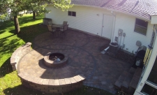 backyard firepit patio