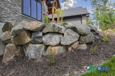 front of house boulder retaining wall