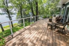 Composite deck with custom railings