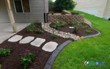 mulch curbing and retaining wall