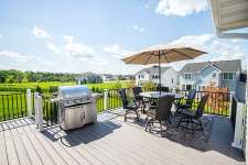 Maintenance free deckPerfect deck setting for outdoor grilling and summertime fun!