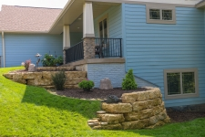 front retaining walls