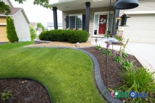 front landscape and edging