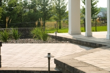 paver patio near deck