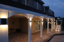Oasis lighting and decking