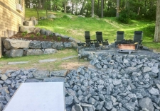 Lakeshore fire pit patio