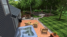patio and walkway 3D Design