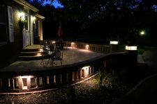 patio lighting with columns