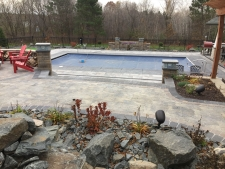 paver patio pool area