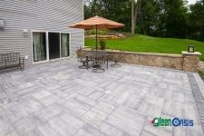 paver patio with columns