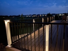 Deck railing lighting