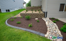 retaining walls with softscape
