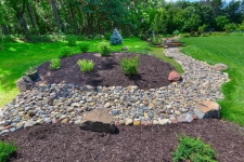 rock creek and mulch bed