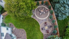 Elevated patio and fire pit Shoreview, MN