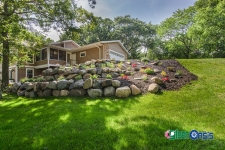 tiered boulder retaining wall